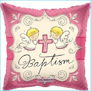 Foil Baptism Pink 45cm