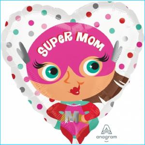 Foil Mother's Day Super Mom 45cm