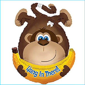 Foil Get Well Hang in There Monkey 108cm