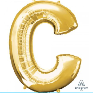 Foil 86cm Gold Letter C