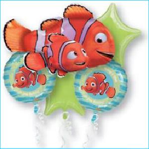 Foil Bouquet Finding Nemo Set of 5