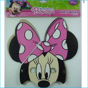 Minnie Mouse Bowtique Paper Masks Pk 8