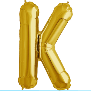 Airfill Letter K Gold 35.5cm A