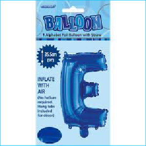Airfill Letter E Blue 35.5cm M
