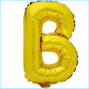 Airfill Letter B Gold 35.5cm M