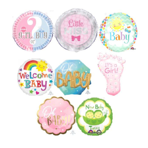 Helium Quality Baby Foils Unfilled