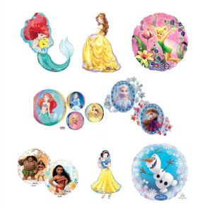 Helium Quality Disney Princess Foils Unfilled