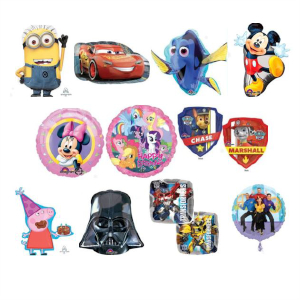 Helium Quality Childrens Shows and Movies Foils Unfilled
