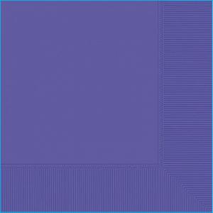 Purple Lunch Napkins Pk 20