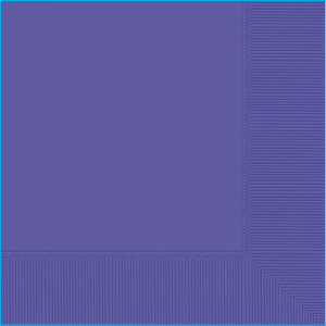 Purple Beverage Napkins Pk 20