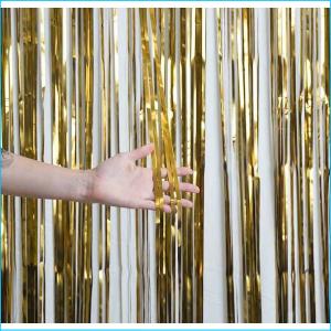 Foil Curtain Satin Chrome Gold 1m x 2.4m
