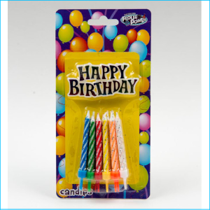 Candle Happy Birthday Spiral & Plaque
