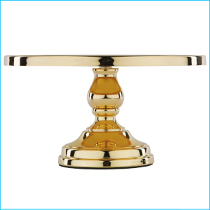 Cake Stand Gold Plated 12""