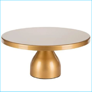 Cake Stand Gold Matte 12""