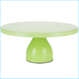 Cake Stand Lime Green Matte 12""