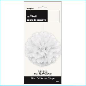 Puff Ball White 40.64cm Pk 1