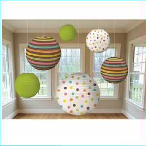 Baby Shower Lanterns Pk 6