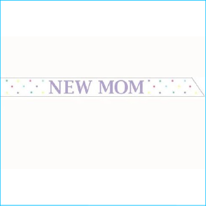 Baby Shower New Mom Sash Pk 1