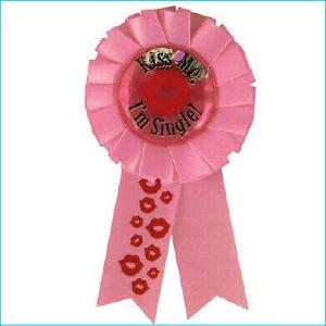 Hens Night Kiss Me Badge Pk 1