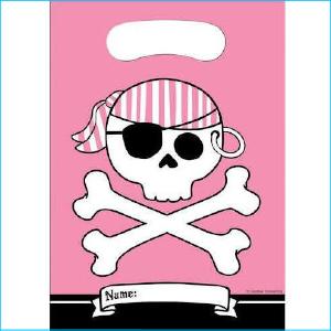 Pirate Pink Lootbags Pk 8