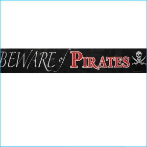 Pirates Beware Party Tape 6m