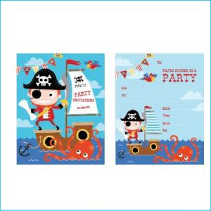 Pirate Party Invites Pk 20