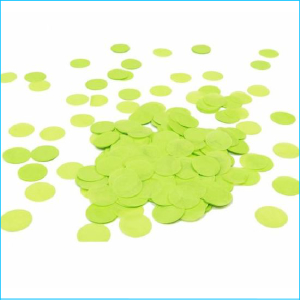 Paper Confetti Circles Lime Green Bag 15