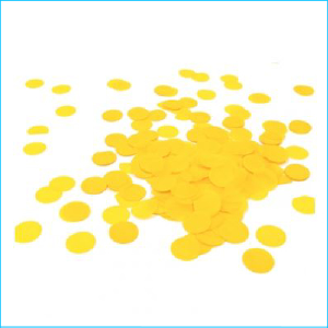 Paper Confetti Circles Yellow Bag 15g