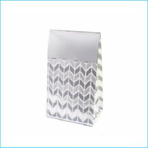 Silver Geometric Treat Bags Pk 8