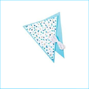 Blue & Silver Triangles Flag Bunting 3m