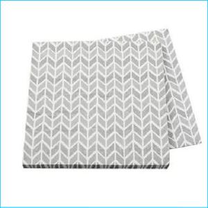 Silver Geometric Napkins Pk 16