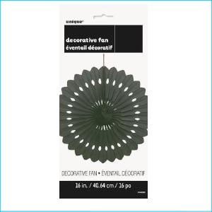 Decorative Fan Black 40.64cm Pk 1