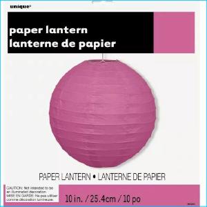 Paper Lantern Hot Pink 25.4cm Pk 1