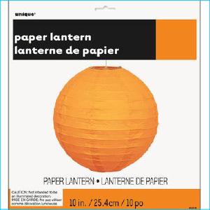 Paper Lantern Orange 25.4cm Pk 1