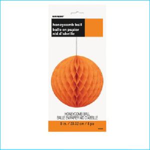 Honeycomb Ball Orange 20.32cm Pk 1