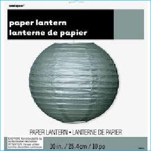 Paper Lantern Silver 25.4cm Pk 1