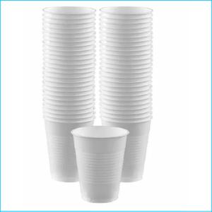 White Plastic Cups Pk 50