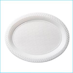 White Oval Plates 31.5cm x 25.5cm Pk 50