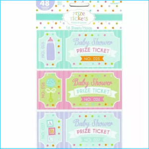 Baby Shower Prize Tickets Pk 16