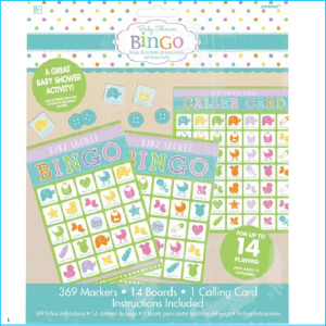 Baby Shower Bingo Game For 14