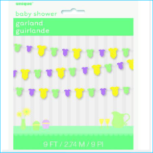 Baby Shower Onesie Garland Pk 1