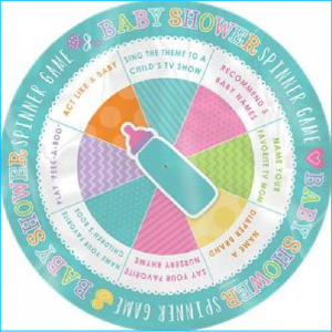 Baby Shower Spinner Game Pk 6