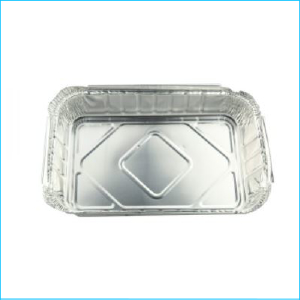 Foil Rectangle Tray with Lid 22.5cm x 16