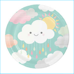 Baby Shower Paper Plates Pk 8