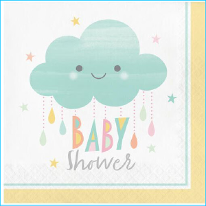 Baby Shower Napkins A Pk 16