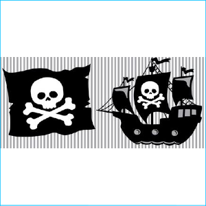 Pirate Tablecover 1.37m x2.74m