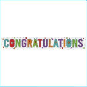 Congratulations Foil Banner 270cm