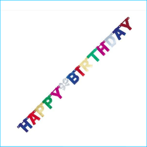 Happy Birthday Multi Jointed Banner 125c