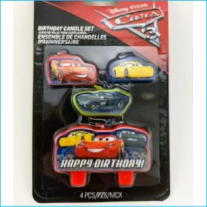 Candle Disney Cars Set of 4