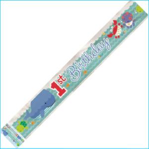 Happy 1st Birthday Sea Foil Banner 365cm